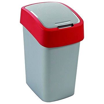 Odpadkový koš Curver Odpadkový koš 50l stříbrná/červená Flipbin (02172-547)