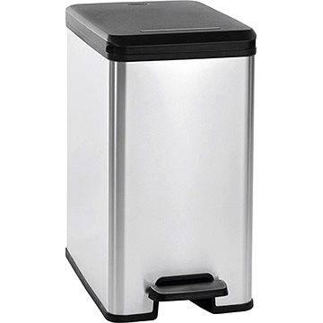 Odpadkový koš Curver Odpakový koš 25l stříbrný SLIM BIN (02339-582)