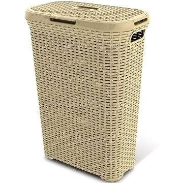 Curver Koš na špinavé prádlo 40l krémový RATTAN (00709-885)