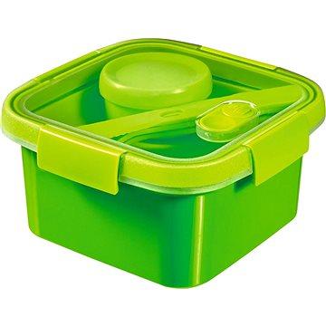 Curver SMART TO GO 1,1l s příborem, mističkou a táckem - zelená (00950-Y32-00)