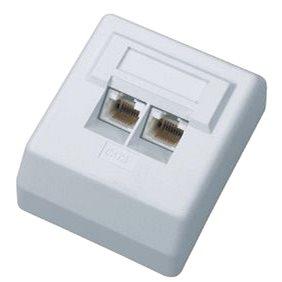 Datacom Datová zásuvka UTP CAT6 na omítku 2455 (2455)