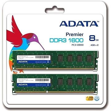 ADATA 8GB KIT DDR3 1600MHz CL11 (AD3U1600W4G11-2)