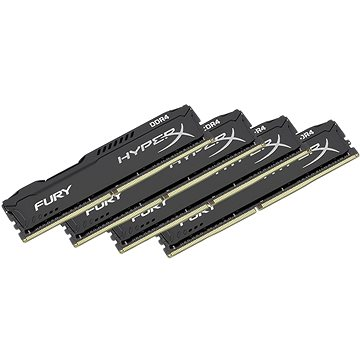 Kingston 64GB KIT DDR4 2400MHz CL15 HyperX Fury Black Series (HX424C15FBK4/64)