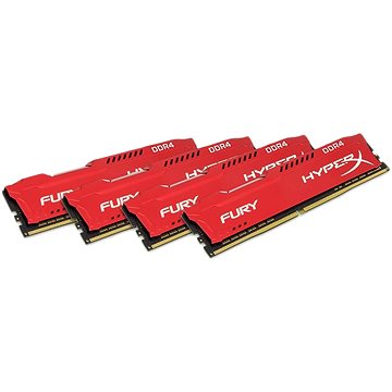 HyperX 64GB KIT DDR4 2400MHz CL15 Fury Red Series (HX424C15FRK4/64)
