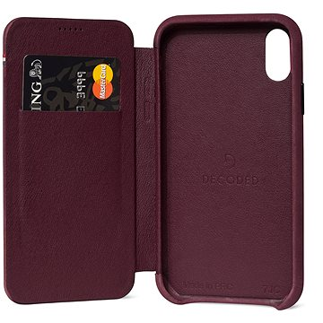 Decoded Leather Slim Wallet Purple iPhone XR (D8IPO61SW3BY)
