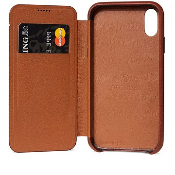 Decoded Leather Slim Wallet Brown iPhone XR (D8IPO61SW3CBN)