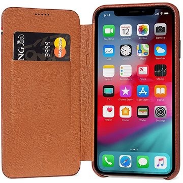 Decoded Leather Slim Wallet Brown iPhone XS/X (D8IPO58SW3CBN)
