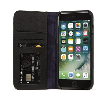 Decoded Leather Wallet Case 2 Black iPhone 8 Plus/7 Plus/6s Plus (DA6IPO7PLCW3BK)