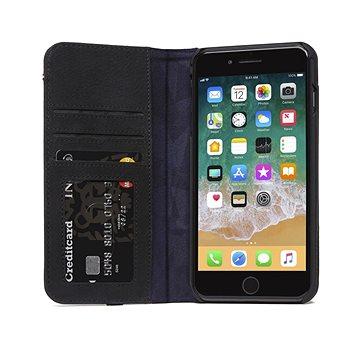 Decoded Leather Wallet Case Black iPhone 8 Plus/7 Plus/6s Plus (DA8IPO8PLCW3BK)