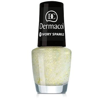 Lak na nehty DERMACOL Nail Polish With Effect - Ivory Sparkle 5 ml (85957572)