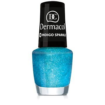 Lak na nehty DERMACOL Nail Polish With Effect - Indigo Sparkle 5 ml (85957640)