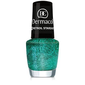 Lak na nehty DERMACOL Nail Polish With Effect - Petrol Stardust 5 ml (85957657)