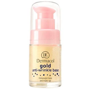 Podkladová báze DERMACOL Gold Anti-wrinkle Base 15 ml (85950740) + ZDARMA Make-up DERMACOL Wake & Make Up 1 ml