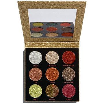 REVOLUTION Pressed Glitter Palette Midas Touch, třpytky (5057566034531)