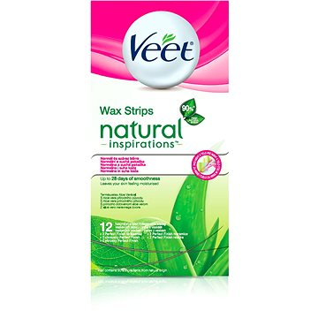 Pásky VEET Studené voskové pásky Natural Inspirations 12 ks (5997321770819) + ZDARMA Gumičky Veet gumičky do vlasů 3ks