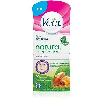 Pásky VEET Studené voskové pásky na obličej s Arganovým olejem 20 ks (5997321771304)