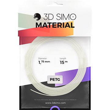 3DSimo Filament PETG/PLA - bílá 15m (G3D3002)
