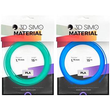3DSimo Filament FLUORESCENT modrý, zelený 15m (G3D3007)