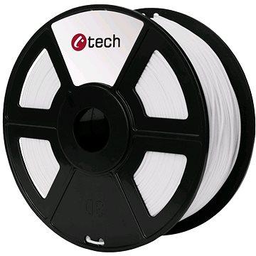 C-TECH Filament PLA bílá (3DF-PLA1.75-W)