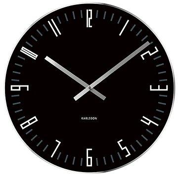 Nástěnné hodiny KARLSSON 5615BK (8714302604652)