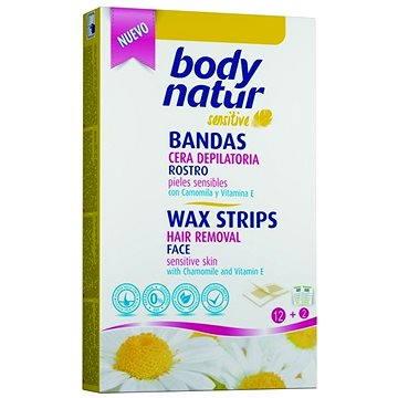 Body natur voskové pásky obličej citlivá pleť heřmánek a vitamin E 12 ks