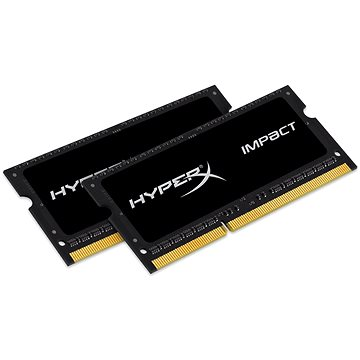 HyperX SO-DIMM 16GB KIT DDR3L 1600MHz Impact CL9 Low Voltage Black Series (HX316LS9IBK2/16)