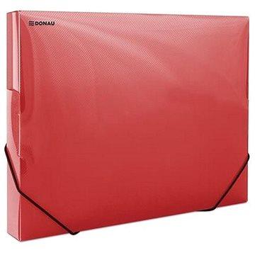 DONAU Propyglass A4 - transparentní, červené (8545001PL-04)