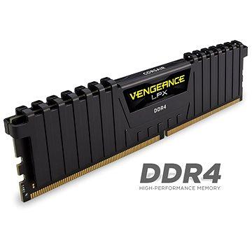 Corsair 8GB DDR4 2400MHz CL16 Vengeance LPX černá (CMK8GX4M1A2400C16)