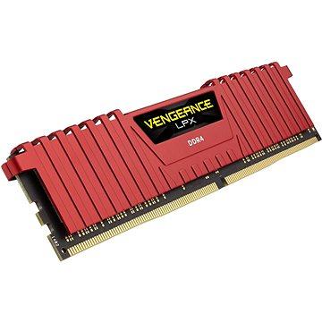 Corsair 8GB DDR4 2400MHz CL16 Vengeance LPX červená (CMK8GX4M1A2400C16R)