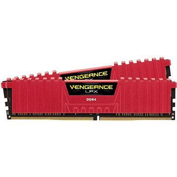 Corsair 16GB KIT DDR4 2133MHz CL13 Vengeance LPX červená (CMK16GX4M2A2133C13R)