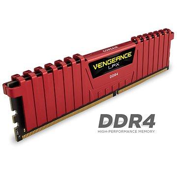 Corsair 16GB KIT DDR4 2400MHz CL16 Vengeance LPX červená (CMK16GX4M2A2400C16R)
