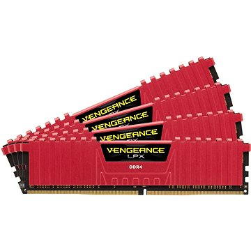 Corsair 16GB KIT DDR4 2666MHz CL16 Vengeance LPX červená (CMK16GX4M4A2666C16R)