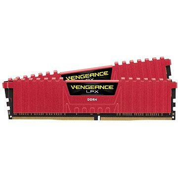 Corsair 16GB KIT DDR4 2666MHz CL16 Vengeance LPX červená (CMK16GX4M2A2666C16R)