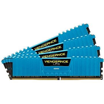 Corsair 16GB KIT DDR4 2666MHz CL16 Vengeance LPX modrá (CMK16GX4M4A2666C16B)