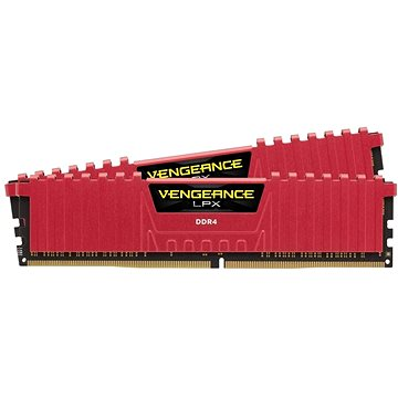 Corsair 16GB KIT DDR4 3200MHz CL16 Vengeance LPX červená (CMK16GX4M2B3200C16R)