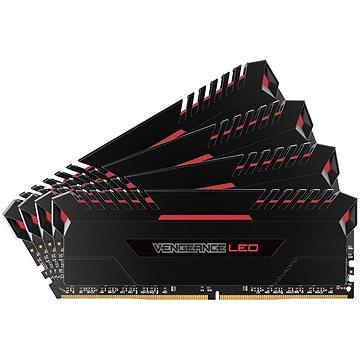 Corsair 32GB KIT DDR4 2666MHz CL16 Vengeance LED - red LED (CMU32GX4M4A2666C16R)