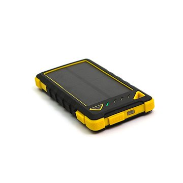 DOCA Powerbank Solar 8000mAh černá/žlutá (DS8000-YELLOW)