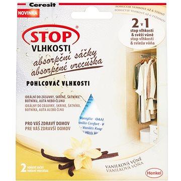 Pohlcovač vlhkosti CERESIT Stop Vlhkosti 2v1 - absorpční sáčky vanilka 2 x 50 g (9000100937832)