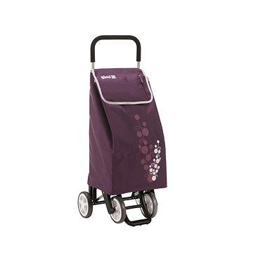 GIMI Twin fialový nákupní vozík 56 l (8001244013278)