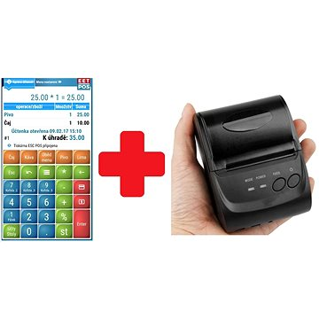 EET-POS plná verze + mobilní tiskárna 5802LD (EET-POS-PRINT)