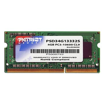 Patriot SO-DIMM 4GB DDR3 1333MHz CL9 Signature Line (PSD34G13332S)