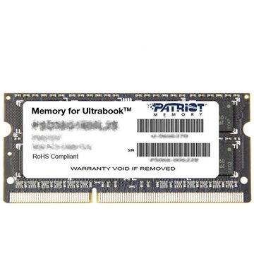 Patriot SO-DIMM 4GB DDR3 1600MHz CL11 Ultrabook Line (PSD34G1600L2S)