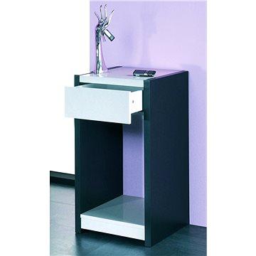 Odkládací stolek Keenan, 74 cm, černá / bílá (HA00930)
