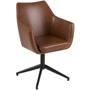 Konferenční / jídelní židle Marte otočná, koňaková (A1002322)