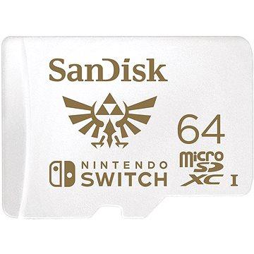 SanDisk MicroSDXC 64GB Nintendo Switch A1 UHS-I (V30) U3 (SDSQXAT-064G-GNCZN)