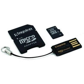 Kingston Micro SDHC 8GB Class 4 + SD adaptér a USB čtečka