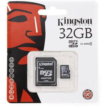 Kingston Micro SDHC 32GB Class 4 + SD adaptér