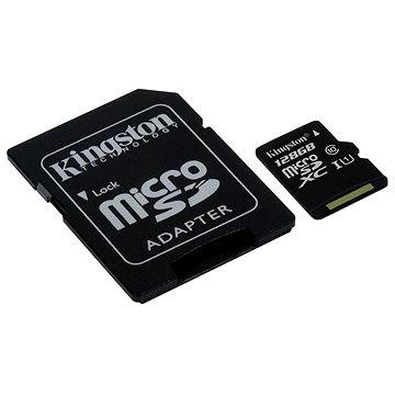 Kingston MicroSDXC 128GB Class 10 UHS-I + SD adaptér (SDC10G2/128GB)