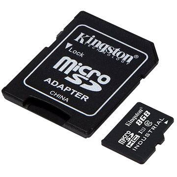 Kingston MicroSDHC 8GB Class 10 UHS-I Industrial Temp + SD adaptér (SDCIT/8GB)