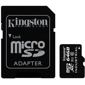 Kingston Micro SDXC 64GB Class 10 UHS-I Industrial Temp + SD adaptér (SDCIT/64GB)